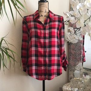 🌺NO BOUNDARIES Red Flannel